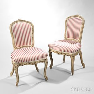 Pair of Painted Louis XV Side Chairs