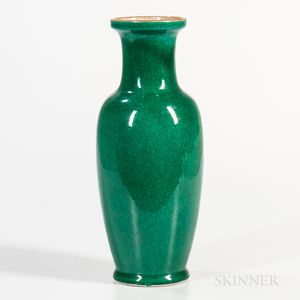 Crackled Apple Green Vase