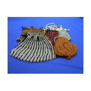 Six Beaded Knit and Cloth Purses.