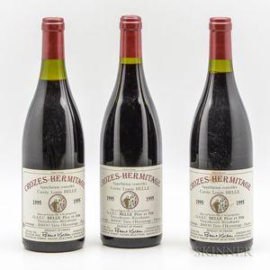 Domaine Belle Crozes Hermitage Cuvee Louis Belle 1995, 3 bottles