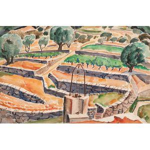 Bertram Hartman (American, 1882-1960)      Paysage de Cassis