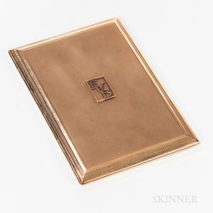 9kt Gold Cigarette Case