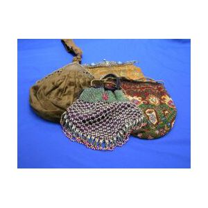 Four Assorted Beaded and Textile Purses.