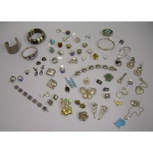 Group of Silver and Ethnic-style Jewelry