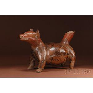 Pre-Columbian Pottery Dog