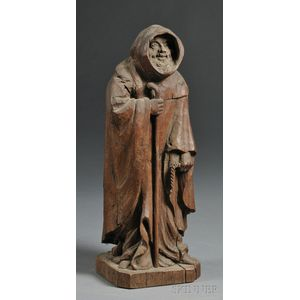 Carved Monk Figure