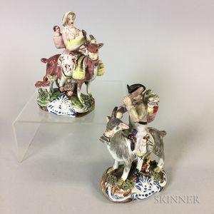 Pair of Staffordshire Ceramic Figures