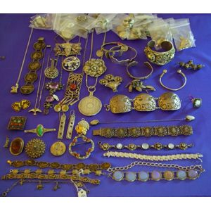 Group of Mexican, Asian, and Southwestern Silver Jewelry