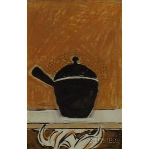 Unframed 20th Century American School Still Life with Covered Pot