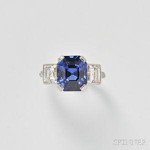 Fine Platinum, Sapphire, and Diamond Ring, Tiffany & Co.