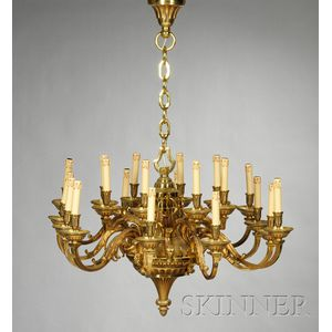 Large Twenty-light Louis XVI-style Bronze Chandelier