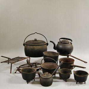 Fourteen Iron Kitchen Items