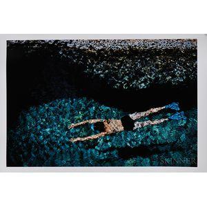 Ernst Haas (Austrian/American, 1921-1986)      The Swimmer, Greece
