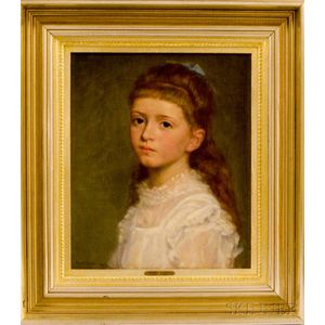 Wyatt Eaton (Canadian/American, 1849-1896)      Portrait of a Girl in White.