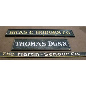 Three Painted Wooden Trade Signs