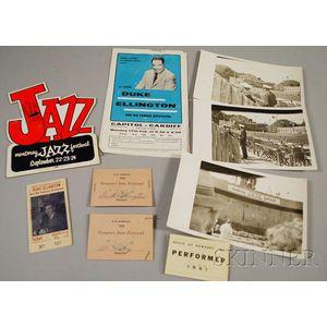 Group of Duke Ellington Concert Ephemera
