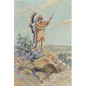 Clarence Arthur Ellsworth (American, 1885-1961)      Standing Chief