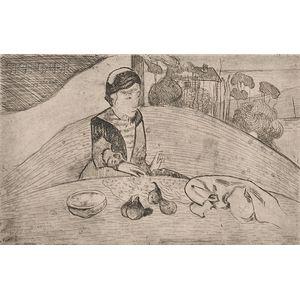 Paul Gauguin (French, 1848-1903)      La femme aux figues
