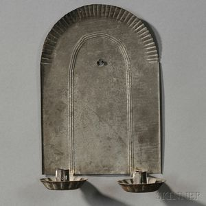 Embossed Tin Two-light Candle Sconce