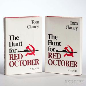 Clancy, Tom (1947-2013) The Hunt for Red October  , Two Copies.