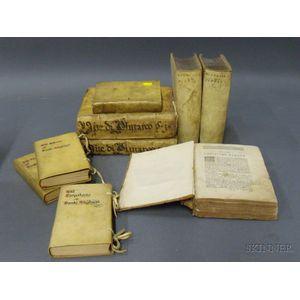 Group of Nine Vellum-bound Titles