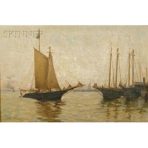Daniel J. Strain (American, 1847-1925)      Quiet Harbor