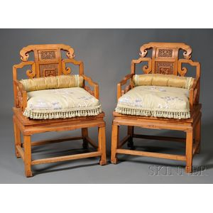 Pair of Teak Armchairs
