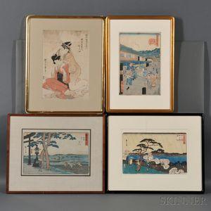 Seven Woodblock Prints