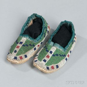 Sioux Beaded Hide Child