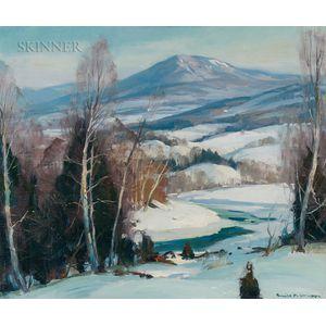 Emile Albert Gruppé (American, 1896-1978)      Winter, Mount Mansfield, Vermont