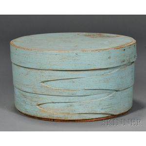 Blue-painted Covered Lap-seam Box