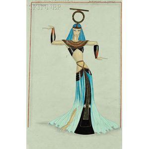 Paul-René Larthe (French, fl. 1930s-1940s)      Costume Design for Prêtresses Oasis d