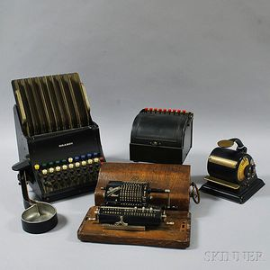 Two Adding Machines, a Register, and a Model-H Protectograph