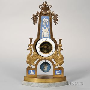 Jasper-mounted Gilt-metal, Mantle Clock