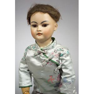 Large Simon & Halbig 1129 Oriental Bisque Head Doll