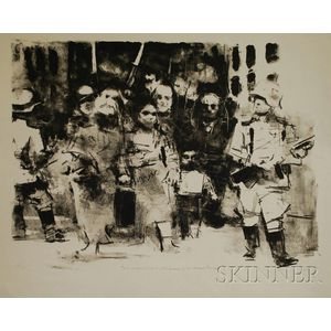 Jack Levine (American, b. 1915)      Warsaw Ghetto