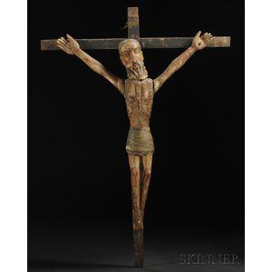 Southwest Carved Wood Crucifixion Bulto