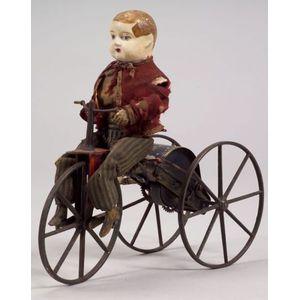 Boy on Velocipede Automaton by Stevens & Brown