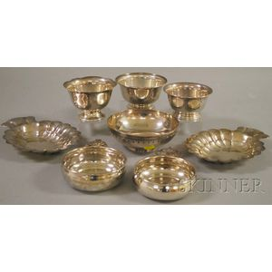 Six Small Sterling Bowls