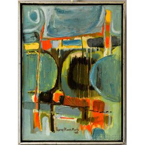 Park Hyang-Mock (Korean, 20th Century)      Abstract Composition.
