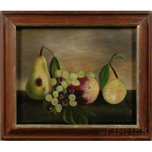 American School, 19th Century      Still Life of Fruit.