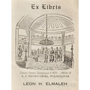 Collection of Eighty Jewish Ex-Libris