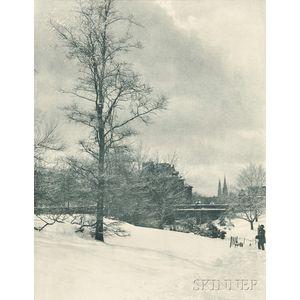 Alfred Stieglitz (American, 1864-1946)      A Winter Sky, Central Park