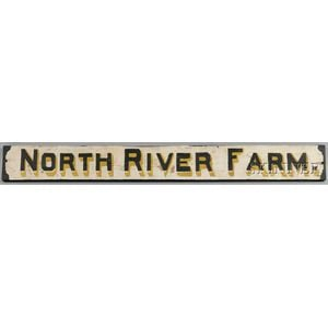 """North River Farm"" Sign"