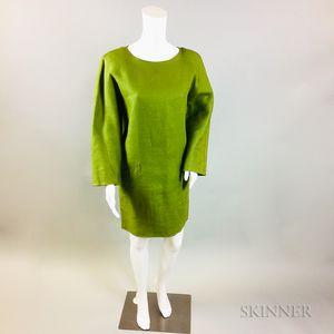 Oscar de la Renta Green Linen Tunic