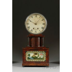 "Mahogany ""Brooklyn"" Lever Spring Shelf Clock by Joseph Ives"
