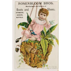 Collection of Thirty-six Jewish-themed Advertising Trade Cards