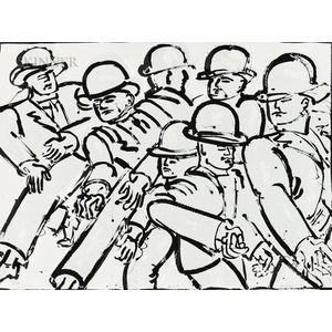 Lester Frederick Johnson (American, 1919-2010)      Two Prints: Spring Street
