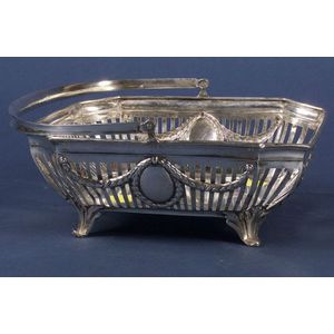 German .800 Silver Neoclassical-style Reticulated Basket