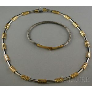 Two Bicolor Jewelry Items
